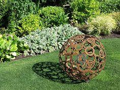 Ideas abound at gardens on Seeding Our Future tour Rusty Garden, Love Garden, Garden Art, Garden Design, Sculpture Metal, Modern Sculpture, Sculpture Ideas, Dubai Garden, Metal Yard Art