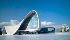 Resultado de imagem para zaha hadid azerbaijan cultural center