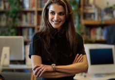 Queen Rania of Jordan is very active both nationally and abroad. Her work spans from education (all over the world), health, youth, and community empowerment, as well as cross-cultural dialogue. And if that wasn't enough, she also has four children: two sons and two daughters! Her husband is King Abdullah bin al-Hussein.
