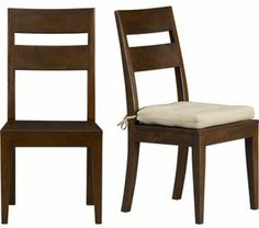 """Crate & Barrel Honey Side Chair. 173⁄4""""H seat; on shopstyle.com"""
