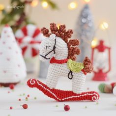 Excited to share the latest addition to my #etsy shop: Christmas Rocking Horse crochet ornament and Holiday decor #christmas #rockinghorse #crochethorse #crochethomedecor #christmasornament #christmasornaments #holidaydecor