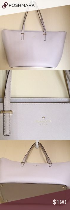 Brand new with tags- Kate Spade medium Tote Brand new cream colored tote by Kate Spade, bought as final sale on discount and realized it was big for my preference, never used. Perfect to carry all your needs/ travel kate spade Bags Totes