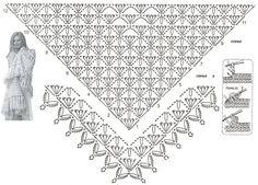 Картинки по запросу схемы вязания шалей крючком