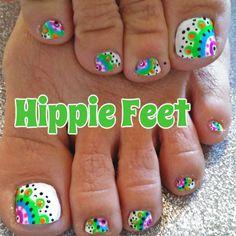 Colorful toenail design summer toes toe nails, toe nail designs e Pretty Toe Nails, Cute Toe Nails, Fancy Nails, Diy Nails, Pedicure Designs, Manicure Y Pedicure, Toe Nail Designs, Summer Toenail Designs, Toe Nail Color