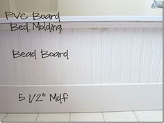 More info on the beadboard tub surround