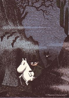 Moomins by Tove Jansson. Tove Jansson, A Silent Voice, Woodland Creatures, Children's Book Illustration, Fairy Tales, Images, Retro, Drawings, Artwork