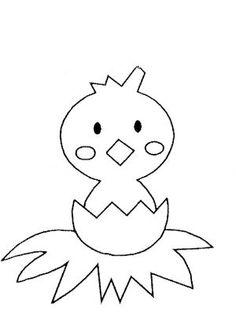 Dibujo para colorear pollito  Pollitos imprimir colorear