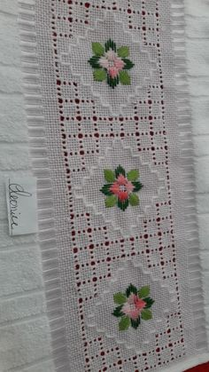 Hardanger Embroidery, Embroidery Stitches, Embroidery Designs, Drawn Thread, Thread Work, Ribbon Embroidery Tutorial, Lace Knitting Patterns, Crochet Tablecloth, Bargello