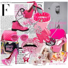 "Pretty in Pink ~ ""MINAJ! <3"" by lips-like-liquid on Polyvore"