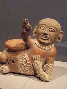 Teotihuacan-influenced vessel in the form of a ballplayer Earthenware Escuintia style Mexico or Guatemala 600 CE (1) by mharrsch, via Flickr