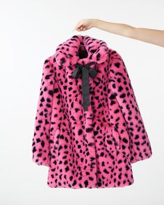 Pink & Black Leopard Fur Coat by lazy oaf - jacket - ban. Leopard Fur Coat, Black Fur Coat, Lazy Oaf, Princess Outfits, Cold Weather Outfits, Cute Jackets, Fur Jacket, Clothes For Sale, The Ordinary