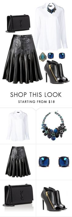 """Untitled #3343"" by janicemckay ❤ liked on Polyvore featuring Alexander Wang, NOVICA, Marc by Marc Jacobs, Humble Chic, Yves Saint Laurent, Tom Ford and Sevan Biçakçi #skirtoutfits"