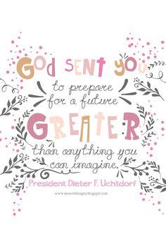 Deseret Designs: God sent you...