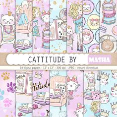 Excited to share the latest addition to my shop: Cattitude Digital Papers Cat Digital Paper Pack Cute Cat Illustration Cute Girl Digital Pattern Pet Digital Paper Macaroons Digital Papers #catdigitalpaper #catpattern #cutecatpattern #purple #anniversary #digital #print #art #etsy http://etsy.me/2FxVTF5