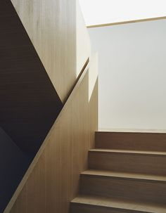 Custom wood staircase in a Toronto home #MadeInToronto