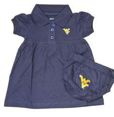 WVU West Virginia Mountaineers Baby Girl Dress - Infant Dress