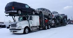 Open Car Shipping in the Snow
