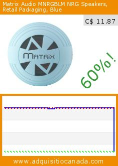 Matrix Audio MNRGBLM NRG Speakers, Retail Packaging, Blue (Wireless Phone Accessory). Drop 60%! Current price C$ 11.87, the previous price was C$ 29.99. http://www.adquisitiocanada.com/matrix-audio/mnrgblm-nrg-speakers