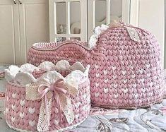 Crochet Home, Crochet Yarn, Crochet Baby Blanket Borders, Crochet Symbols, Crochet Market Bag, Nursery Accessories, Baby Baskets, Baby Prams, Baby Kit