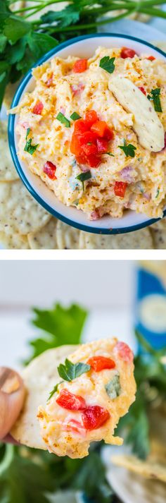 Pimiento Cheese Dip from The Food Charlatan // The secret ingredient in this perfect dip is bringin down the the house!! So easy to throw together.