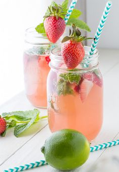 Strawberry Rhubarb Rosé Sangria - sweet peas and saffron Party Drinks, Cocktail Drinks, Fun Drinks, Alcoholic Drinks, Beverages, Absolut Vodka, Smirnoff, Rose Sangria, Strawberry Wine