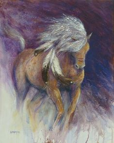 Shaman's Dance horse art print by LancasterArt on Etsy, $99.00  I love her work!  This might be my favorite yet.