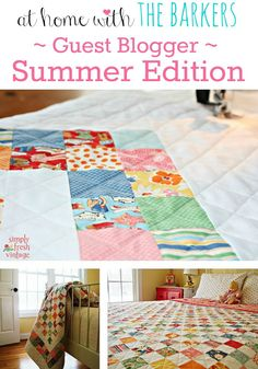 Summer Guest Blogger {Simply Fresh Vintage} -At Home with The Barkers