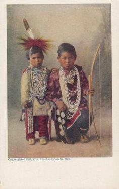 Circa 1905 Native American Indian Children