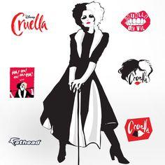 Evil Villains, Disney Villains, Disney Art, Disney Movies, Cruella Deville Costume, Emma Stone, Makeup For Sale, Cute Costumes, Movie Wallpapers