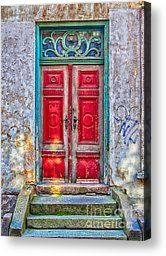Red Door Green Frame Photograph by Antony McAulay - Red Door Green Frame Fine Art Prints and Posters for Sale