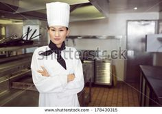 Find Portrait Confident Female Cook Standing Kitchen stock images in HD and millions of other royalty-free stock photos, illustrations and vectors in the Shutterstock collection. Chef Jackets, Confidence, Standing Kitchen, Photo Editing, Royalty Free Stock Photos, Female, Portrait, Cooking, Coat