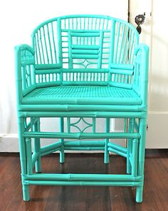 Chippendale bamboo chair