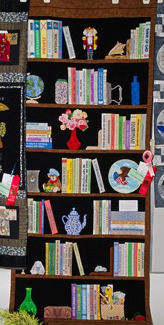 Bookcase quilt.   IMG_8938-1 by David Freuthal, via Flickr
