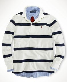 Polo Ralph Lauren Shirt, Stripe Rugby Shirt - Mens Polo Ralph Lauren - Macy\u0026#39;s