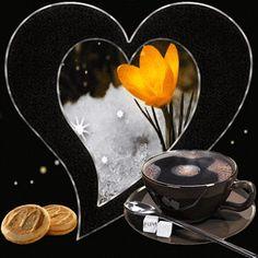 Pinned by sherry decker Beautiful Flowers Wallpapers, Beautiful Gif, Beautiful Butterflies, Gifs, Je T Aimes, Good Morning Coffee Gif, Corazones Gif, Animated Heart, Heart Gif