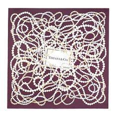 Tiffany Pearls scarf in plum silk.