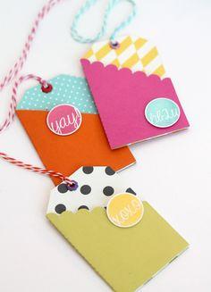 Mod & Bright Folded Tags   Damask Love Blog