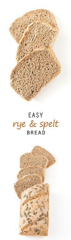 Easy Rye and Spelt Bread #vegan