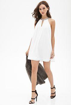 Rhinestone Collar Shift Dress | Forever21 - 2000138327