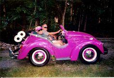 Pink vw.........Minney Mouse car...LOL