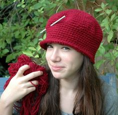 Pattern  Beginners crochet hat  pdf pattern by TeaPartyHats, $5.50
