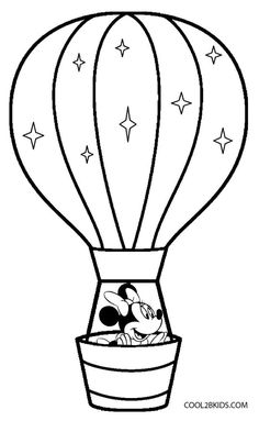 printable hot air balloon coloring pages for kids cool2bkids miscellaneous coloring pages pinterest hot air balloons air balloon and quilling - Balloon Coloring Pages