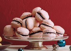 Raspberry Chocolate French Macaroons via Epicurious