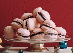 Raspberry Chocolate French Macaroons via Epicurious