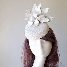 Simply white. Simply beautiful.  #white #hat #fascinator #fashion #handmade #style #milliner #melbourne #womensfashion #mode #chapeau #oneofakind
