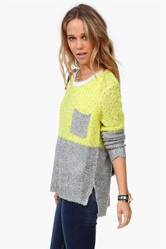 Marjorie Sweater in Lime