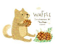 WAFFLE. 柴犬とワッフル。 By Megumi Inoue. http://sorahana.ciao.jp/