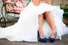 blue wedding shoes...I have the perfect blue shoes for this, but I don't see myself marrying again. LE