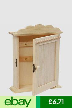 Storage Units Home, Furniture & DIY #ebay Key Cabinet, Storage Cabinets, Storage Units, Paint Stain, Locker Storage, Woodworking, Rustic, Diy Things, Wall