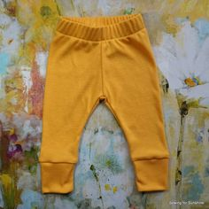 Baby Girl Leggings/Baby Boy Leggings in Solid Golden Yellow/Toddler Soft Stretchy Pant to Match All Outfits/Grow With Me Pants/Baby Clothing by SewingforSunshine on Etsy https://www.etsy.com/listing/269866386/baby-girl-leggingsbaby-boy-leggings-in